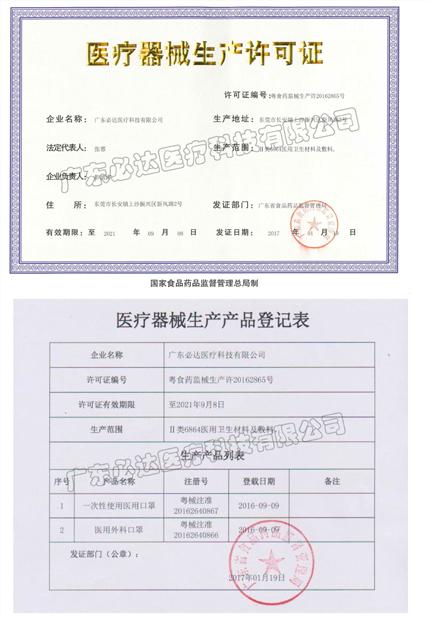 广东必达医疗资质齐全,CE FDA 双认证