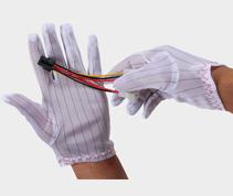 防静电条纹手套 G301
